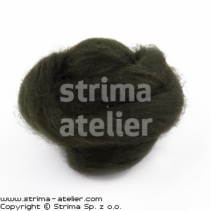 Worsted wool 28 microns - bottlegreen - 28M P-2819