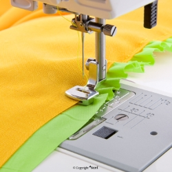Sewing and shirring foot for household machine - TEXI 0010