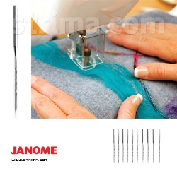 Set of 10 standard needles for JANOME FM725