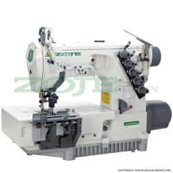 Zoje 2-needle flat chainstitch machine for belt-loop seaming, with built-in energy-saving AC Servo motor and needle positioning - complete sewing machine - ZOJE ZJ2479A-064M-VF-BD SET