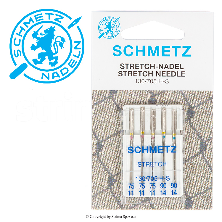 SCHMETZ stretch needles 5pcs. 3x75, 2x90 - 130/705 H-S V3S