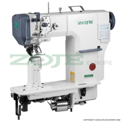 Zoje automatic post-bed lockstitch machine for thick material with bottom, needle and upper roller feed, with AC Servo motor - complete machine - ZOJE ZJ9610SA-D3-H-3 SET