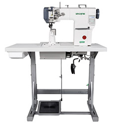 Zoje automatic post-bed lockstitch machine for medium and heavy material with bottom, needle and upper roller feed, with AC Servo motor - complete machine - ZOJE ZJ9610SA-D3-M-3 SET