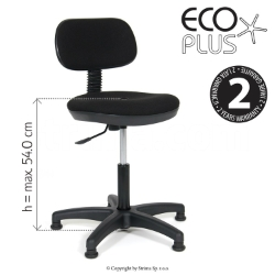 Industrial upholstered chair with pneumatic lift - ECO PLUS