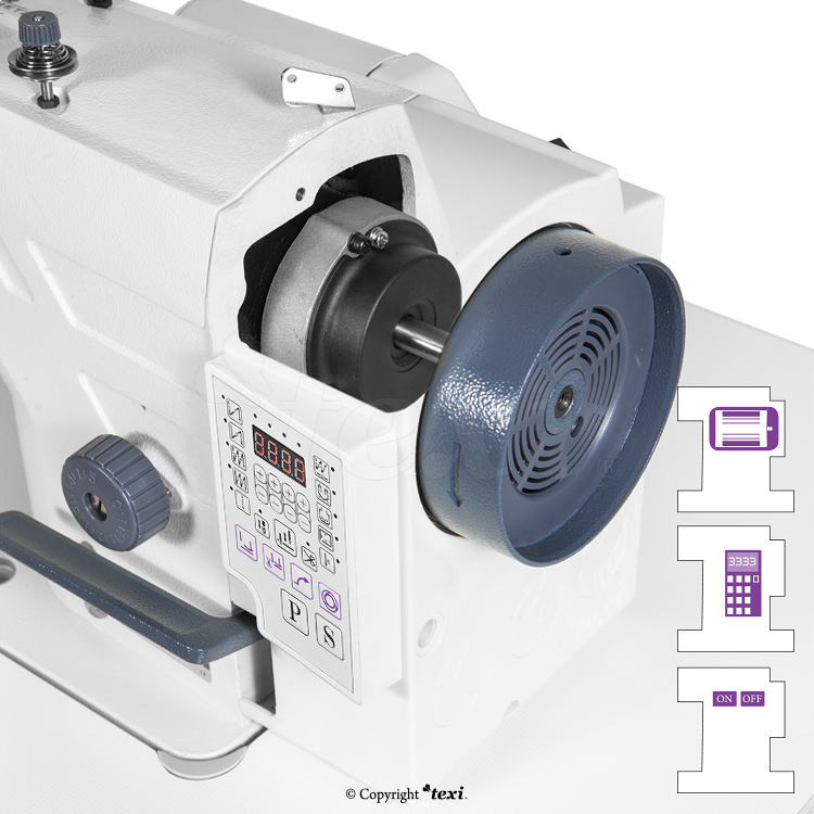 Lockstitch machine with built-in AC Servo motor and needle positioning - head only - TEXI TRONIC 7 NF PREMIUM