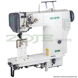 Zoje 2-needle automatic post-bed lockstitch machine with bottom, needle and upper roller feed - machine head - ZOJE ZJ9620-D-M-3-01