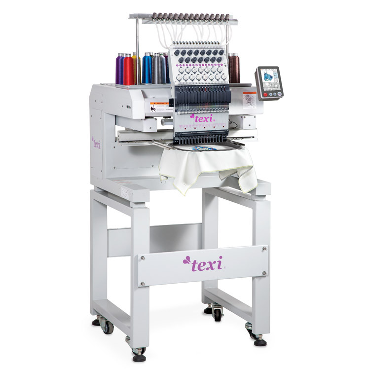 Compact, one-head, fifteen-needle embroidery machine - TEXI 1501 TS PREMIUM