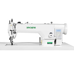 Upholstery and leather lockstitch machine with built-in AC Servo motor, compound feed, large hook - head only - ZOJE ZJ0303L-3-D4