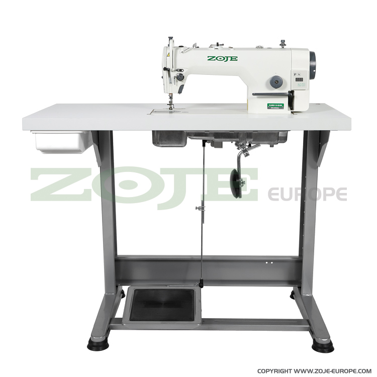 Zoje lockstitch machine for light and medium materials, with built-in AC Servo motor and control box, with needle positioning - complete sewing machine - ZOJE ZJ9513G-5/02 SET