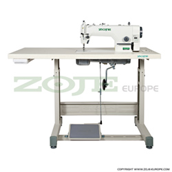 Zoje lockstitch machine for light and medium materials, with built-in AC Servo motor and control box, with needle positioning - complete sewing machine - ZOJE ZJ9513G-5/02 Z SET