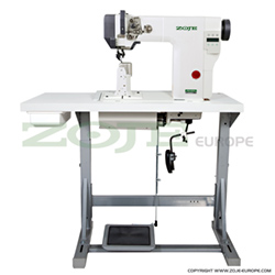 Zoje post-bed lockstitch machine with bottom, needle and upper roller feed, with automatic thread timmer - complete machine - ZOJE ZJ9610-BD-M-3-01 SET