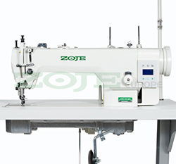 Upholstery and leather lockstitch machine with built-in AC Servo motor, compound feed, large hook - head only - ZOJE ZJ0303L-3-CX-L-BD/02