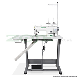Zoje automatic lockstitch machine with trimmer, for light and medium materials, with built-in AC Servo motor - complete sewing machine - ZOJE ZJ5303AR-48-W-D2-02-PF SET