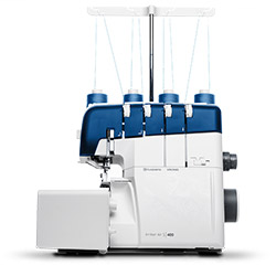 Air threading system overlock machine