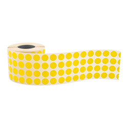 Round label, diam. 10 mm, yellow - STRIMA LIGHT ROUND YELLOW