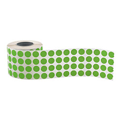 Round label, diam. 10 mm, green - STRIMA LIGHT ROUND GREEN