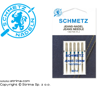 SCHMETZ jeans/denim needles 130/705H-J, 5pcs. 5x90 - 130/705 H-J VDS