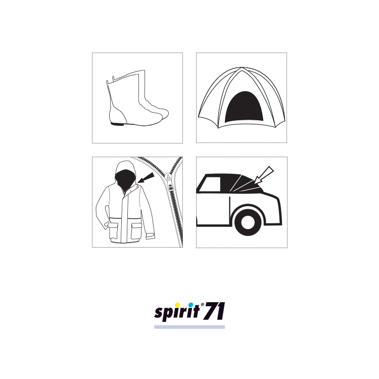 Impregnacijski sprej - SPIRIT 71 - spray 400 ml